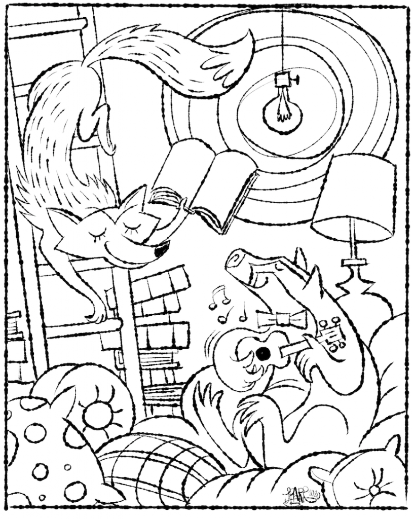 Free Ukulele Coloring Page! - Bernadette Teaches Music | 1024x815
